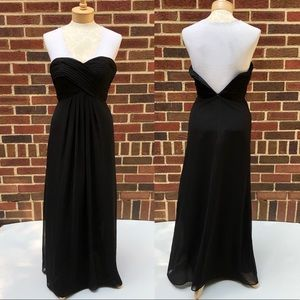 Bill Levkoff Black Strapless Formal Gown Size 4